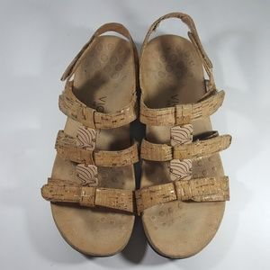 0fa1c6f5af51 Vionic Shoes - Vionic Amber Orthaheel Cork Tan Ankle Strap Sandal